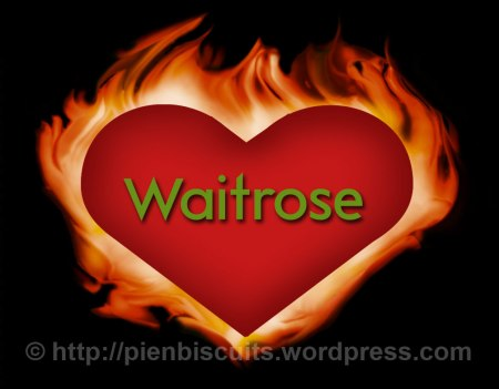 Montage of the Waitrose logo set in a flaming heart