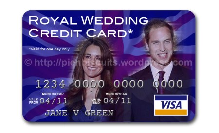 Royal wedding credit card