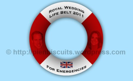Royal wedding life belt