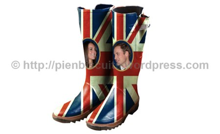 Royal wedding wellington boots