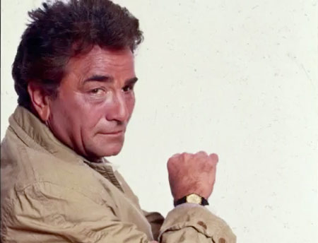 The Actor Peter Falk as Leiutenant Columbo