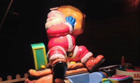 santa claus children's ride
